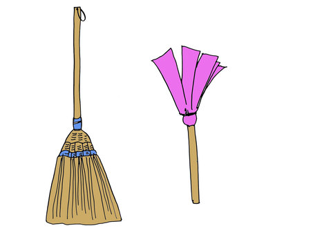 A broom and a beat