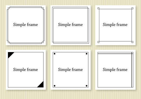 Set of simple frames