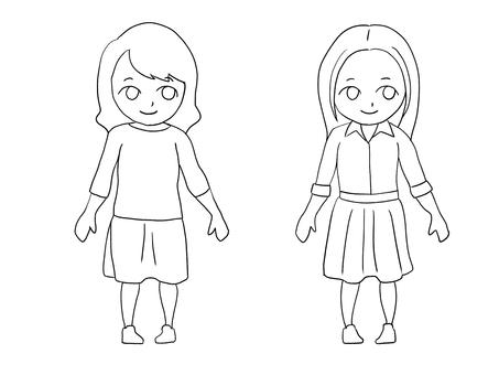 Flare skirt women · Drawings