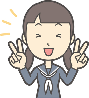 Junior high school sailor woman -011-bust