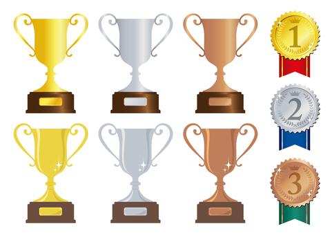 Winner cup & medal