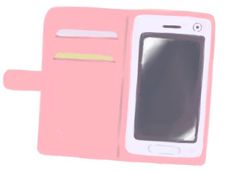 粉色智能手機套