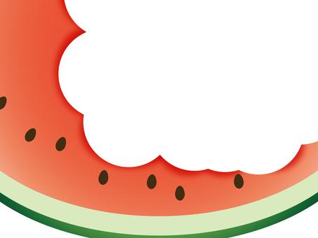 Gnawed watermelon