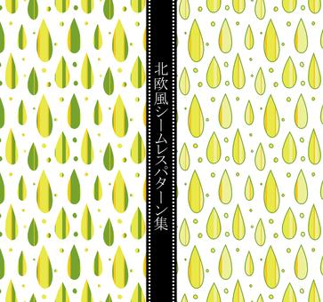 Scandinavian style pattern 雫 02 / yellow