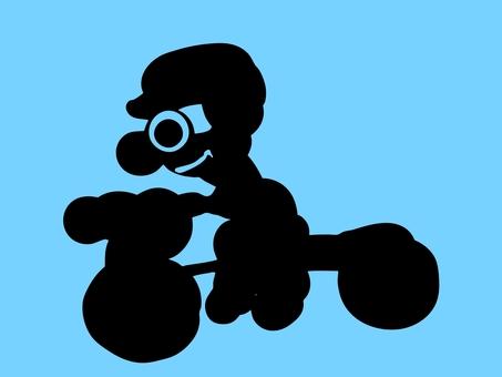 Weird bicycle man