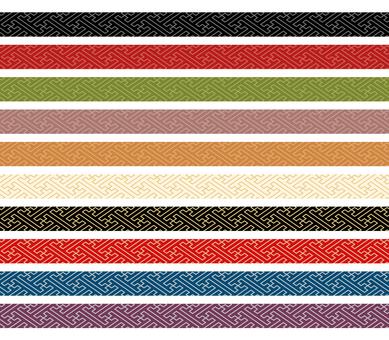 Japanese pattern decorative ruling set 03