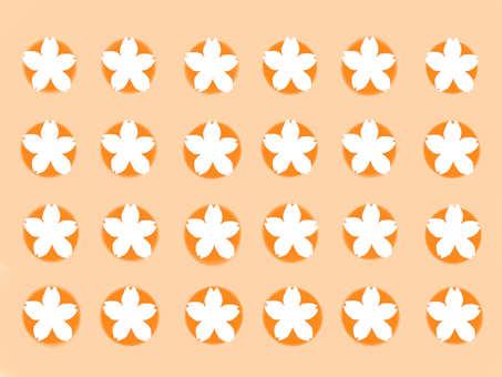 Japanese Pattern Sakura Orange
