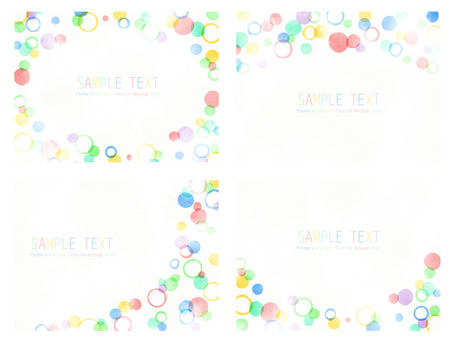Colorful polka dot frame