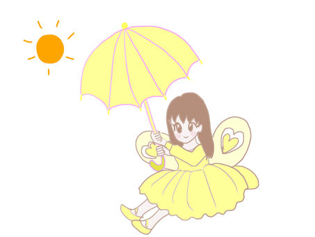 Fairy with parasol