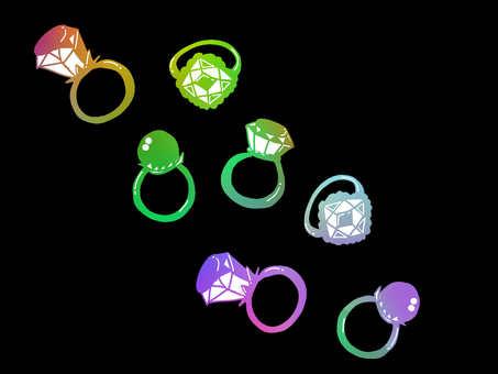 Rainbow ring 【ring】