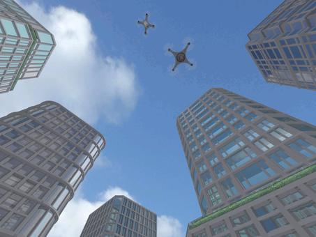 High-rise building drone
