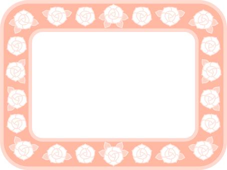 Pastel color rose frame (Orange)