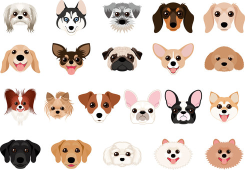Dog breed set