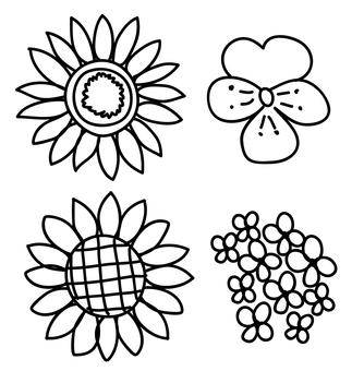 黑色和白色的花朵