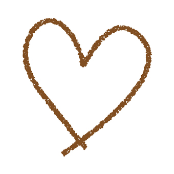 Hand-painted heart _ brown