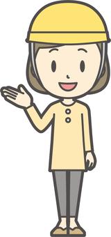 Girl yellow long sleeve-131-whole body