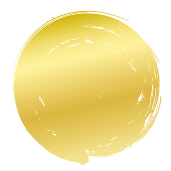 Circle · gold solid painted with brush