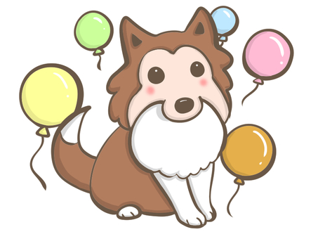 Balloons and dog