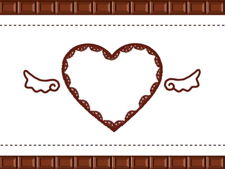 ハートチョコフレーム