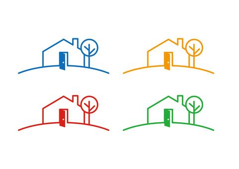 Home motif logo