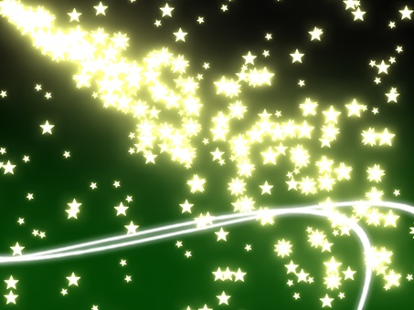 Particle star (background green)