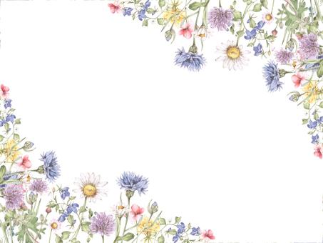 Flower frame 174 - Small flower garden Flower frame frame