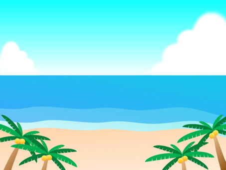 The beach of Tropical country