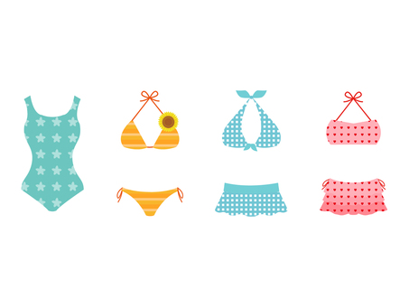 Various swimsuits