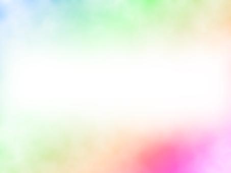 Rainbow color frame