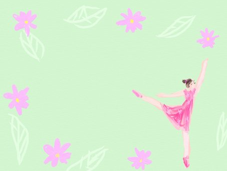 Ballet and flower frame