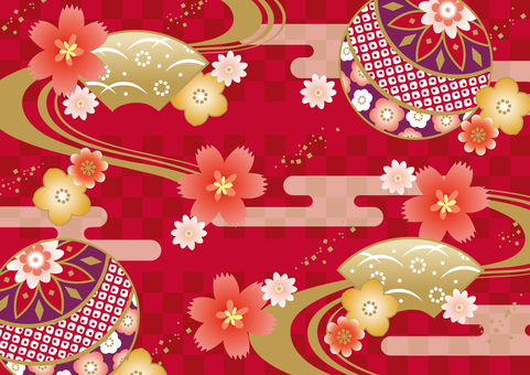 Kimono traditional Japanese pattern
