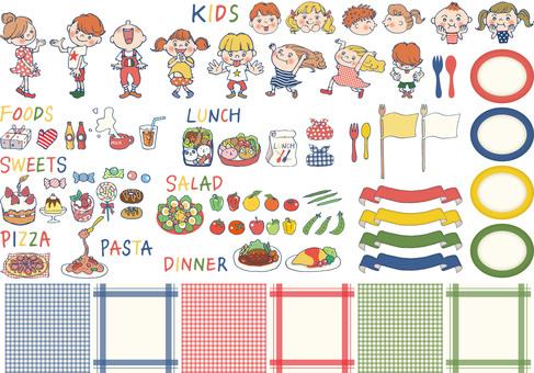 儿童和食品等