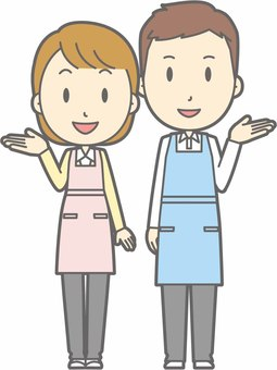 Apron Male / Female - Information smile - whole body