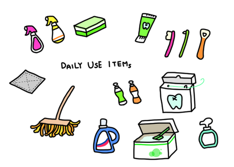Daily necessities used for cleaning and washing