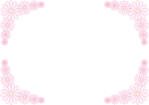 Frame - Flowers - Pink