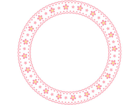 Cherry pattern lace circular frame 1