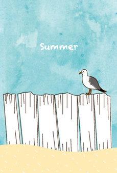 Postcard on the beach