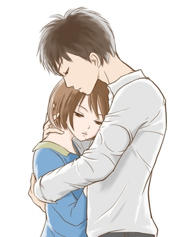 Couple hug