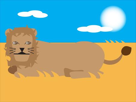 Lion's rest 1600 × 1200px