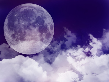 Background moon & cloud navy