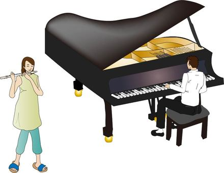 Piano and flute