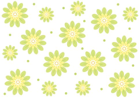 Wallpaper -2 color flower - green