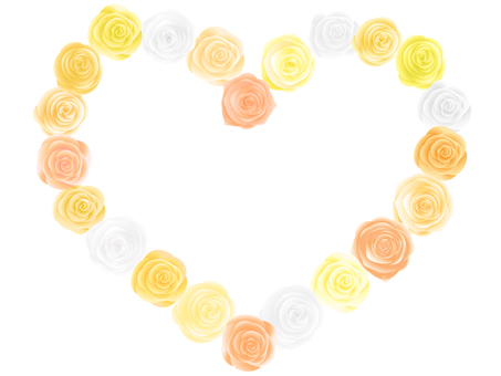 Rose heart shaped arch yellow