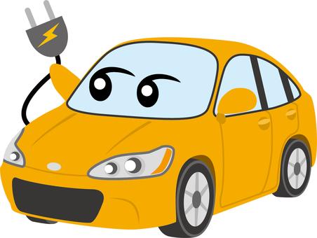 Electric car (Yellow)