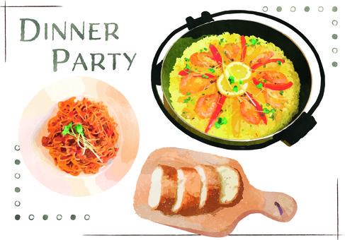 派對晚餐午餐晚餐