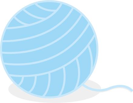 Light blue wool ball