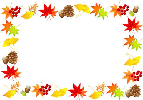 Autumn leaves plant frame 05