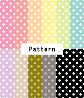 ドットパターン(手描き風)11色