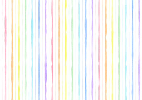 Hand drawn rainbow colored stripes background
