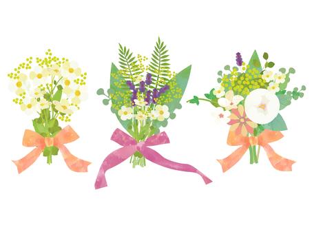 Set of bouquets